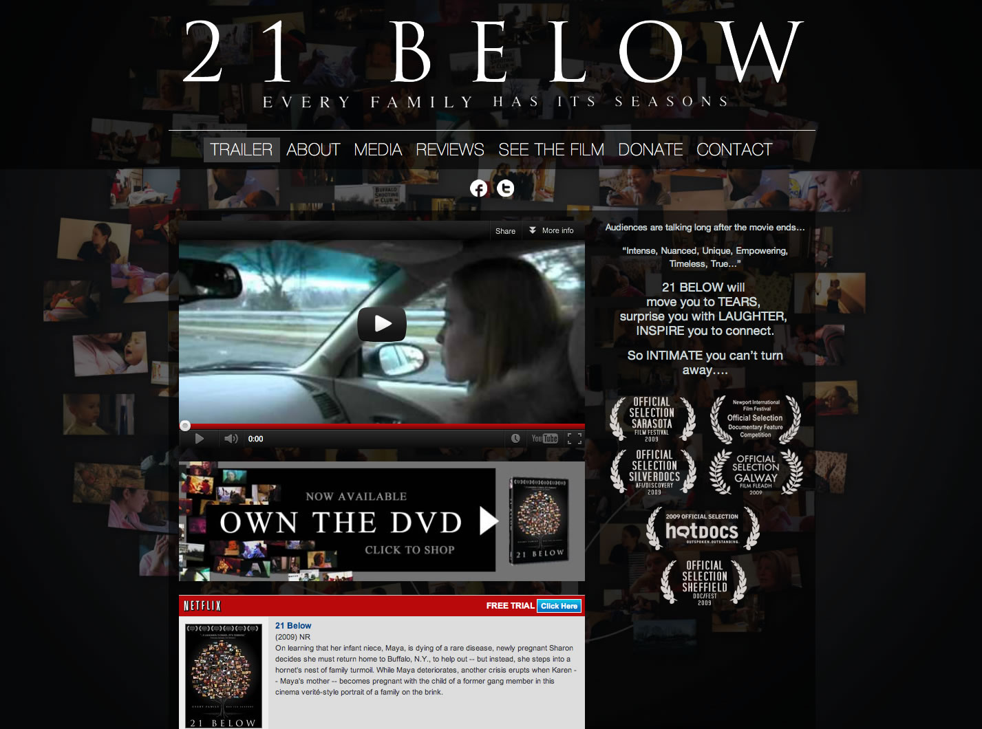 21BelowFilm.com - Film Website ReDesign | Kyle Art and Design