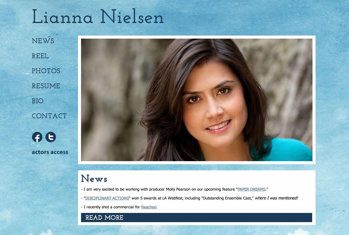 Examples of actors websites.