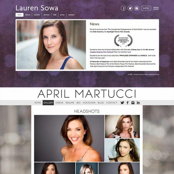 Design for Actors: Websites, Graphics, Reels + Clips | Kyle Art + Design